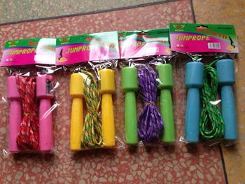 Rubber counting jump rope,