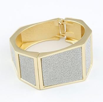 European and American punk metal exaggerated geometry polygon temperament bracelet