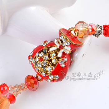 Beads small vases shaped double Su luxury car