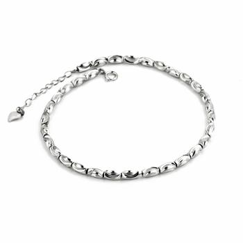 Anklet 1PC 8inch+1.5inch 925 Sterling Silver Anklets Fashion Jewelry Lucky Bead Anklets GNJL0006