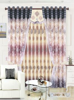 Factory direct green reactive printing shade cloth curtain fabric and provides professional foreign finished products processing