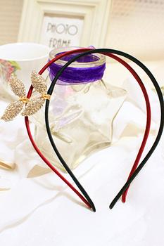 2014 Korea imported hair accessories new bling rhinestone Angel Wings alloy cute fresh hair band hairband
