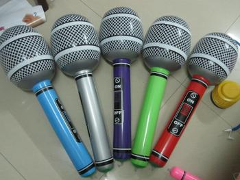 Inflatable microphone, party supplies, inflatable microphone, PVC microphone children activity props, inflatable toys