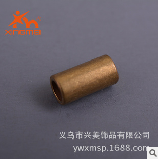Yiwu jewelry fittings copper fittings plated round brass straight tube DIY accessories factory direct