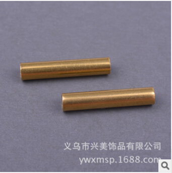 American jewelry DIY accessories brass color copper pipe straight pipe wholesale jewelry FB00224
