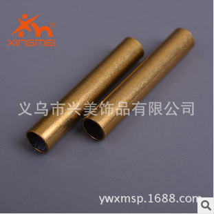 American jewelry plating jewelry DIY ornament fittings brass pipe straight pipe length FB00103 shoes bags accessories