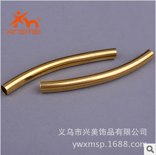 Beautiful jewelry copper fitting brass color the FW00013 round tube bend tube accessories wholesale