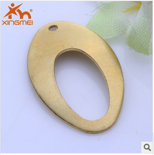 New hot accessories hollow oval concave hole DIY copper jewelry