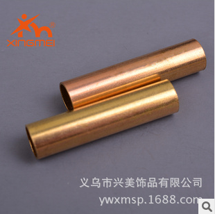 Copper jewelry wholesale hardware fittings brass color straight pipe FB00533 pipe accessories wholesale