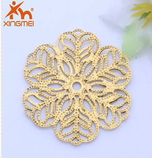 New hot-selling jewelry hollow six-Star copper electroplating copper jewelry beautiful accessories factory direct