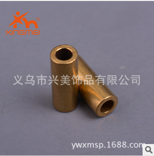 Beautiful jewelry copper jewelry copper fitting brass color pipe straight pipe accessories factory direct FB00149