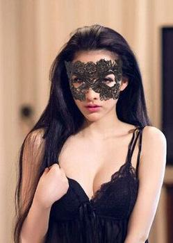 Sexy sexy party party Black Lace mask goggles