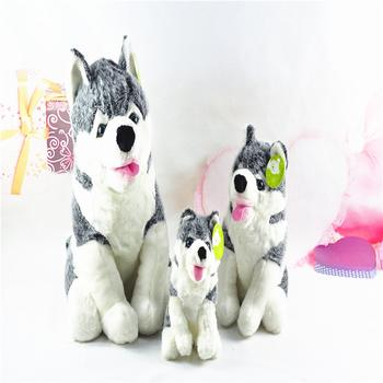 New squatting tongue stay cute cute Husky plush toys in three sizes of handsome bully small animals