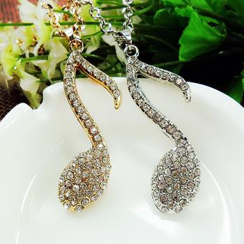 CAC2031 hollow stereo full rhinestone accent necklace for Korean fashion jewelry necklace