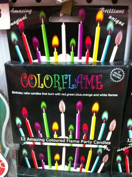 2014 new innovative and unique candle with coloured flame party supplies party supplies