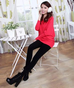 High density nylon single one warm pants with thick cashmere Leggings seamless high elastic pants not his boots