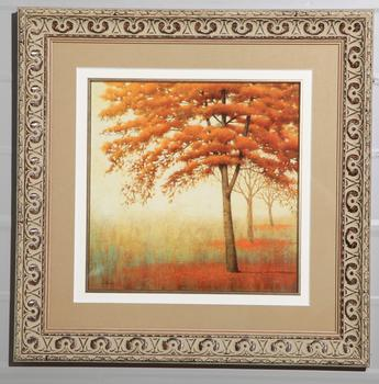 Markor furnishings decorative photo frames painted Maple Leaf Chinese Restaurant red cardboard painted foam photo frame