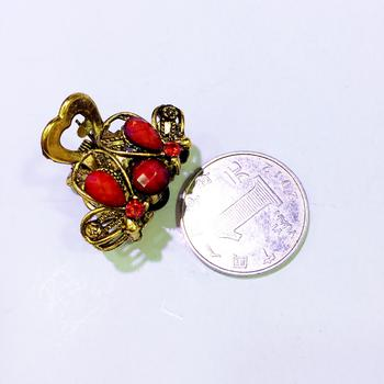 Korea hair accessories hairpin rhinestone catch clamp Palace vintage trumpet catch clip imitation precious little catch