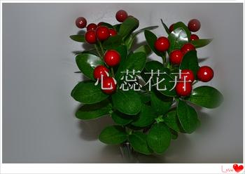 Factory Outlet small mixed batch simulation of artificial flowers 8 forks fruit decoration flowers