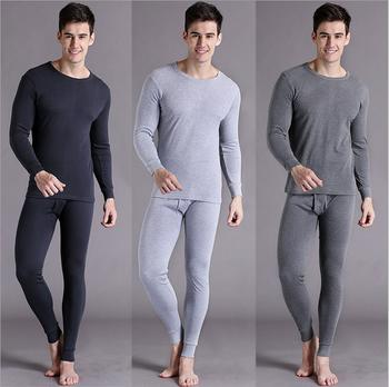 Men's thin fiber modal fever autumn clothing long Johns thermal underwear crew neck base base package