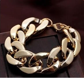 coarse chain gold bracelet silver bangle bracelets & bangles women bracelet