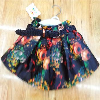 New thickened and fall/winter fleece Footless cartoon printed skirt suit shorts girls baby clothes wholesale