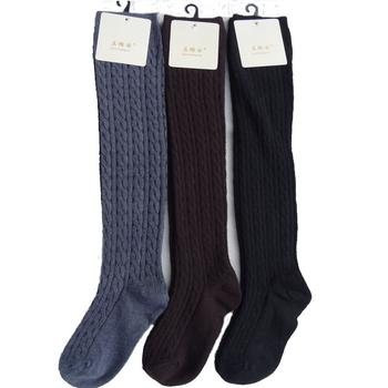 Thick warm in autumn and winter Korea piles of cashmere socks knee high tube socks ladies boots set knee foot set