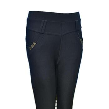 Middlewomen pants casual pants plus siz waist slim fit studded middle-aged and old ladies with bound feet pencil pants