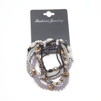 Factory direct multiple measle color acrylic diamond claw chain beaded bracelet