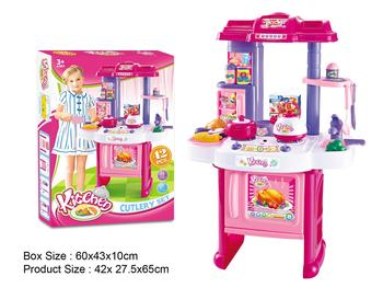 Plastic dining table, toys, role play, House utensils, factory outlets