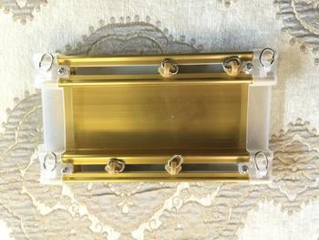 Electroplated gold twin-track
