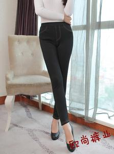 Thin imitation jeans pencil pants new thicker in winter boots and wool ultra warm leggings pants