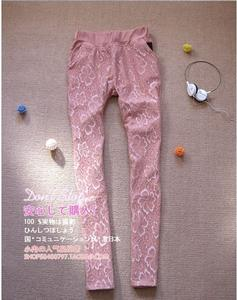 cashmere lace thickened colored pencil pants feet pants boots pants plus size pants thermal pants