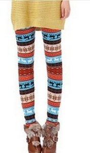 Fall/winter warm snow deer Footless wind Additionally wool thick skinny boot pants 6
