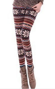 Fall/winter warm snow deer Footless wind Additionally wool thick skinny boot pants 1