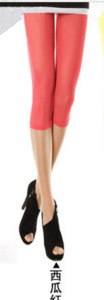 New slim Candy-colored mesh in summer cropped leggings girls color skinny slim stretch pants 10