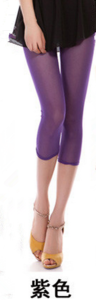 New slim Candy-colored mesh in summer cropped leggings girls color skinny slim stretch Pants 2