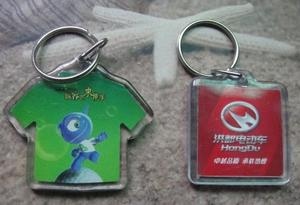 Solid acrylic key chains, acrylic key chain photo frames, promotional gifts