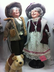 Porcelain dolls  old granny features craft doll
