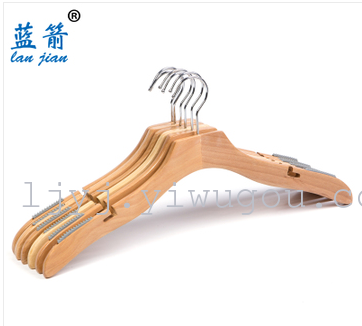 Anti-skid Groove on the wooden hanger natural colored wooden hanger strap hanger wooden hangers
