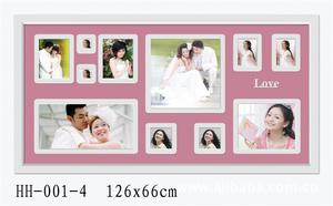 Moving magnet photo frame solid wood MDF photo wall photo Salon children decorate picture frames