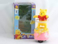 LX0048307 window box of light music, Hula Hoop with Pooh bear