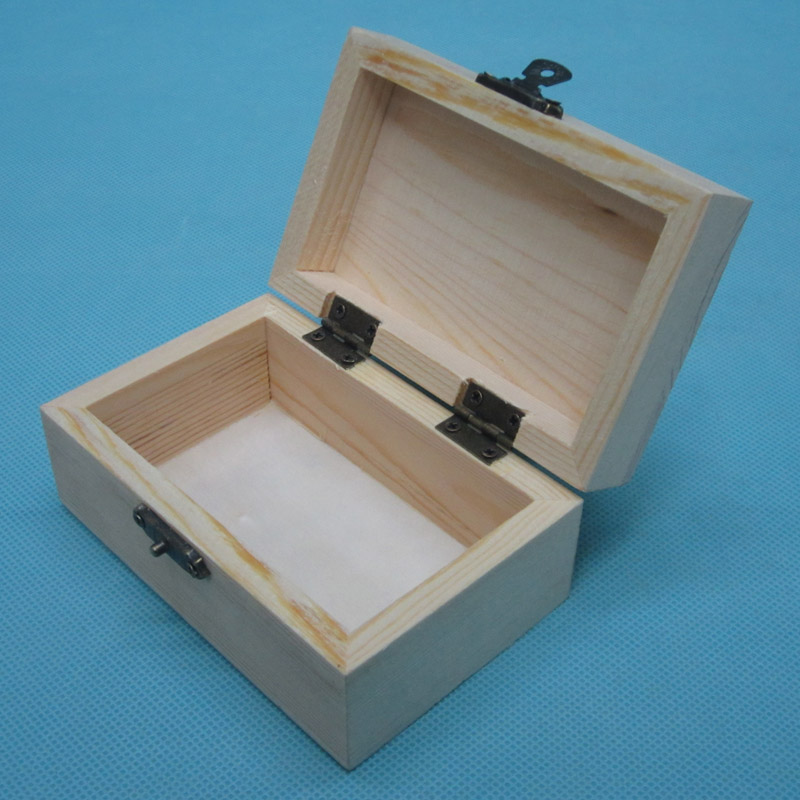 supply spot pine wooden packing box jewelry box diy