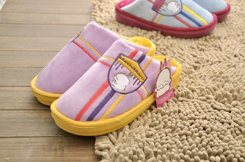 Rascal rabbit authentic 3217 3317 warm home cartoon couple cotton slippers, thick-soled slippers cotton wholesale