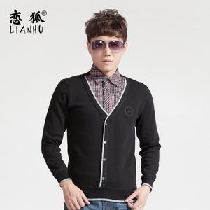 New Korean men warm velvet shirt and thick Cardigan winter warm shirt