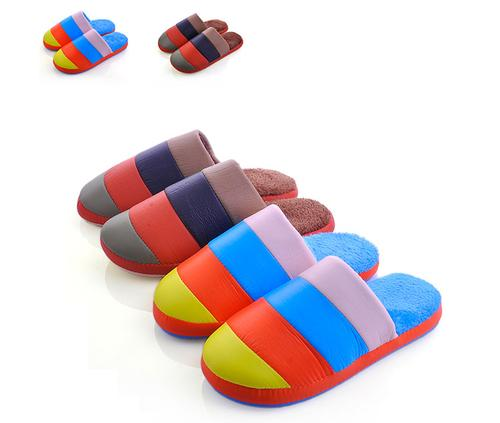 New piggy Lele 1208-1 fashion lovers color warm cotton slippers home floor wholesale