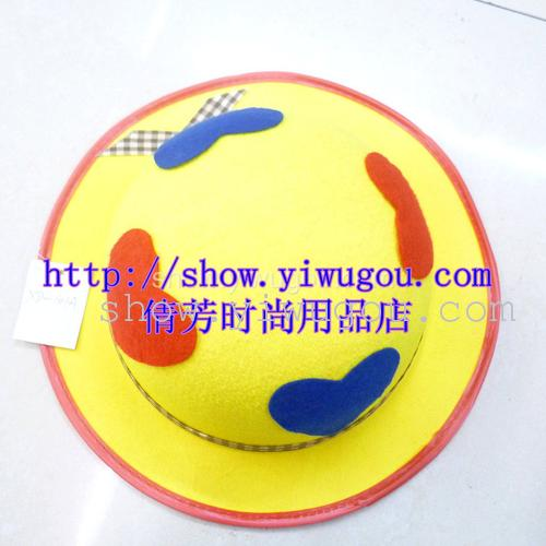 Round yellow Hat,Non-woven hats,Hearts round cap,Heart-shaped round Hat