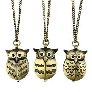 Table/wings OWL vintage Pocket Watch necklace three bronze wall charts of the OWL sweater chain
