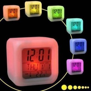 Second generation colorful color-changing mood clock creative everyday