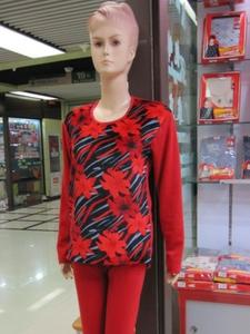 2014 fleece women's thermal suit and plush padded underwear manufacturer direct sale